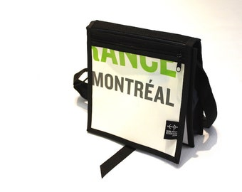 Backpack strap small white and green Montreal