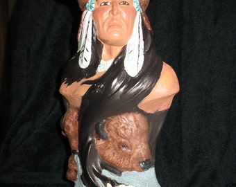 Buffalo Chief Native American figurine
