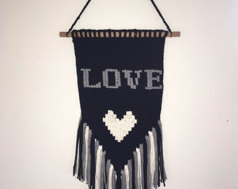 Knitted wall hanging
