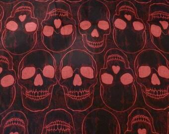 Red Skulls handmade bandana