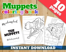 10 Muppets coloring pages instant download. The Muppets coloring pages, Muppets coloring book, Muppets printable coloring book kids party