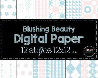 Blushing Beauty Digital Paper