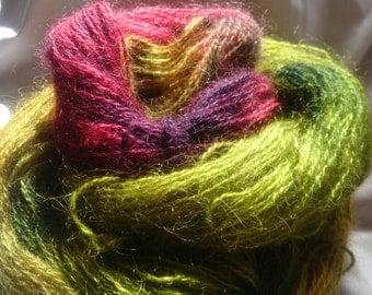 hand dyed mohair 100g/335m, 4ply yarn- 'Teddy'