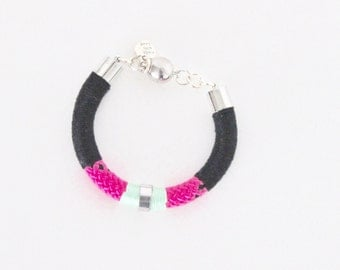 Color Block Pink Bracelet