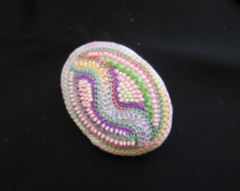 Pink and bleu brooch, idea for lover gift