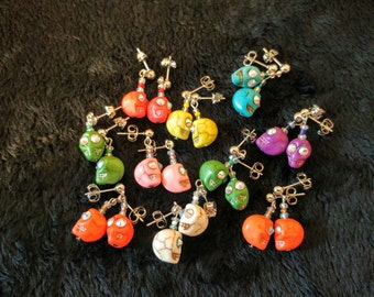Colorful Skull Earrings