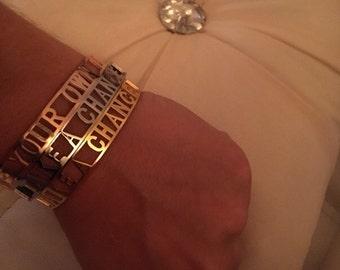 Bracelet set of rose, gold, silver