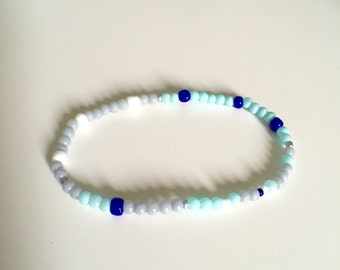 Beaded Bracelet in Blue Hue