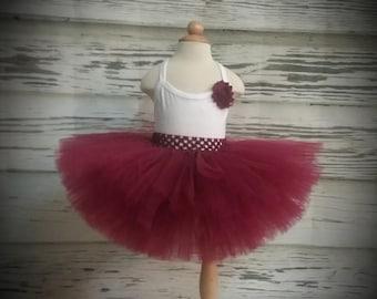 Free Shipping Burgundy Fluffy Tutu Skirt-Baby Tutu Skirt-infant Tutu Skirt-photo Prop