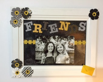 Friends picture frame, handmade, 4x6 photo