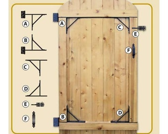 """Complete Gate Hardware Kit Heavy Duty HGCBHK01 for 25"""" to 72"""" openings"""