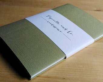 Notebook with long stitch