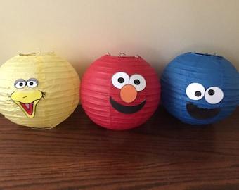 Sesame Street Character Paper Lanterns