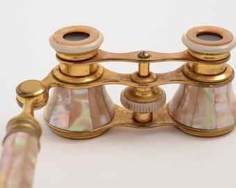 Elegant Pair of Mother Of Pearl Opera Glasses (ID 47001)
