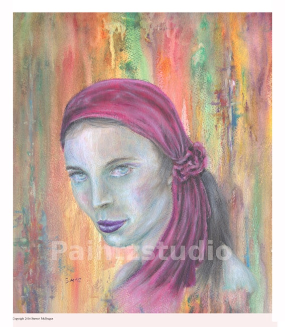Gypsy Woman Painting Woman painting print w...