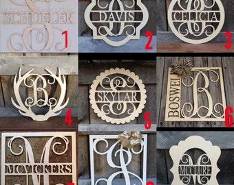 SALE family name door hanger
