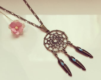 Dream catcher necklace turquoise