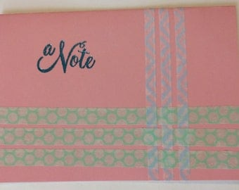 A Note Greeting Card