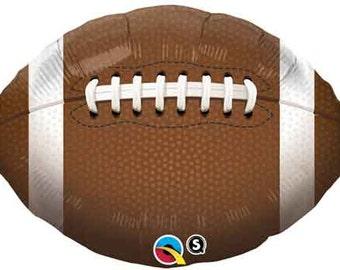 "Football Balloon- 18"" Mylar-Football Party Decorations-Sports Theme Balloon"