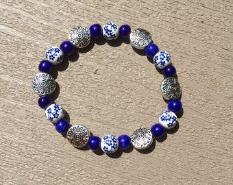 Silver Cobalt Bracelet