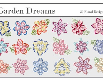 Floral - Garden Dreams Machine Embroidery Designs
