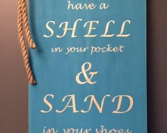 Sand and Shells Custom Wood Sign