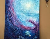 Galaxy painting, Fantasy painting, Space artwork, Space painting, Planet painting, Space art, Outer space art, Galaxy artwork