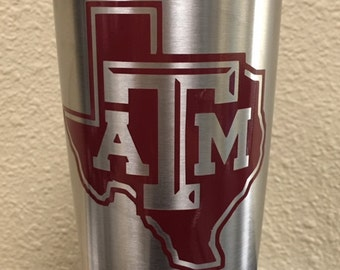 Texas A&M Decal for Yeti, Rtic, SIC, etc Tumblers - Unofficial