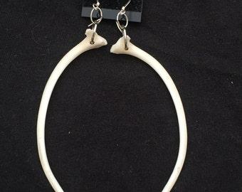 Python rib earrings.