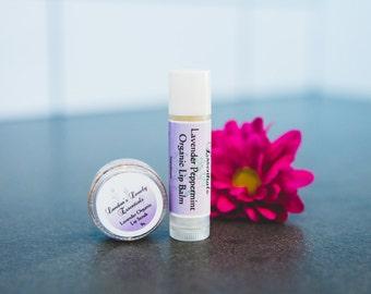 Organic Lip Combo (Lavender Lip Scrub/Lavender Peppermint Lip Balm)
