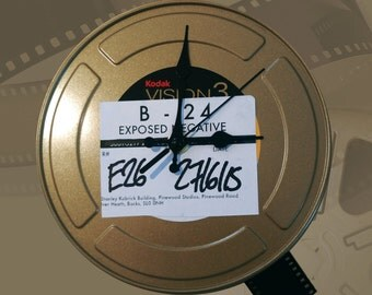 Film Reel Can Clock