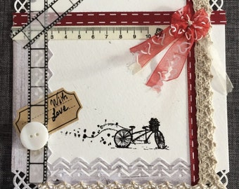 Map romantic bike lovers - With Love