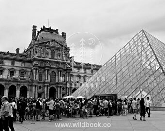 Louvre Paris, Black And White Photography - Wallpaper,Wall Art - Print Photo,fine art print,postcard,poster,image - architecture city travel