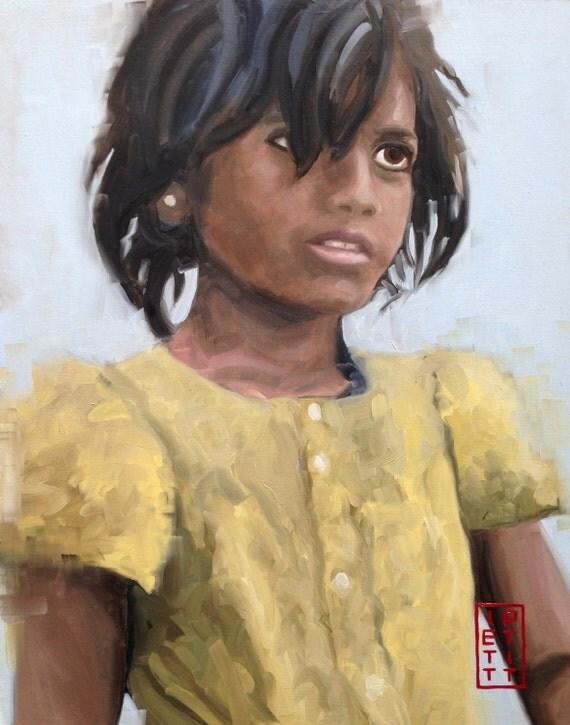 Latika Slumdog Millionaire by IanPettittArt on Etsy