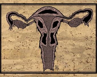 Uterus - A5 print