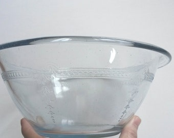 Sapphire Blue mixing bowl, Fire King Philbe glass, Fire King mixing bowl, Anchor Hocking glass  _  B6