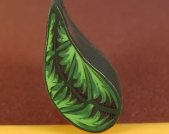 Leaf Polymer Clay Cane - Raw/ Unbaked (40-17) - For covering pens, eggs, bowls, jewelry and more!