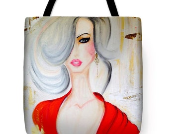 Miss Red Tote Bag