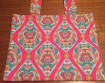 Bright paisley market tote bag