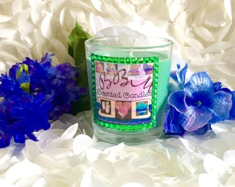 Small Glass Scented Candle