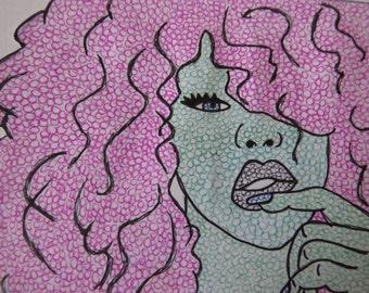 Seductive bubble lady!