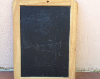 Vintage Childs blackboard,slate chalk board,old school house, french wood 4