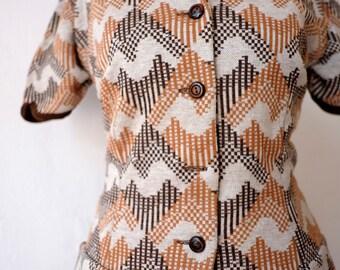60s Twiggy wool dress | Dress | 60s | Brown retired