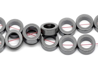 "10 Hematite bead ""Ring"" - 12 mm / K1-0693"