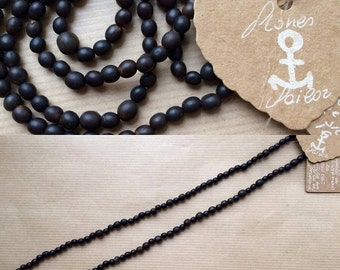 """Unisex long necklace in natural seeds """"Toloman"""""""