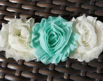 Mint & Ivory rosette headband