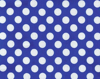 Blue Polka Dot -Ta Dot Fabric by Michael Miller