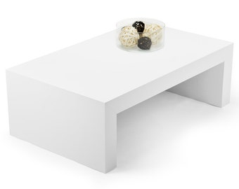 Coffee Table, high-gloss white, Minimal Style
