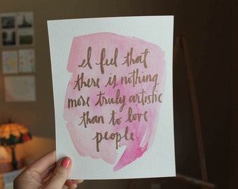 Love is Art Watercolor Painting