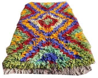 vintage shaggy rugs tulu rug soft handle wool green red yellow white turkish kilim rugs